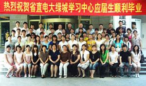 河南省直电大绿城学习中心2008级部分毕业生合影