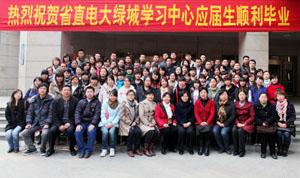 河南省直电大绿城学习中心2008秋级部分毕业生合影
